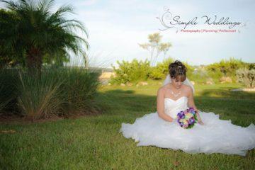 Bride on Lawn